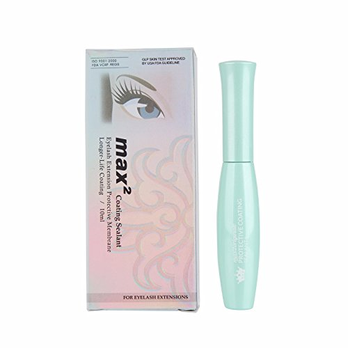Beauty7 Max2 Eyelash Extension Coating Sealant Clear Lashes Protective Membrane Extend Longer Life (Best Eyelash Extension Sealer)