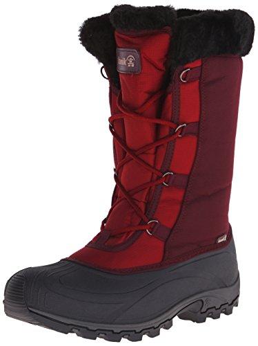 Kamik Womens Rival Insulated Winter Boot Dark Red 5MOtu