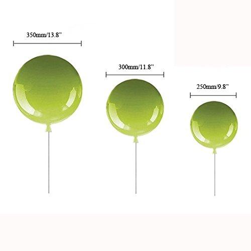 Jiuzhuo Minimalist Adorable Balloon 1-Light Creative Flush Mount Ceiling Light Kids Lighting (White,Medium)