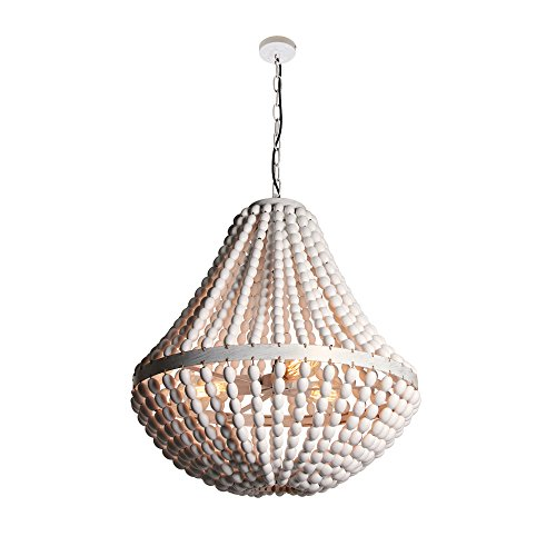 Wood Bead Pendant Light