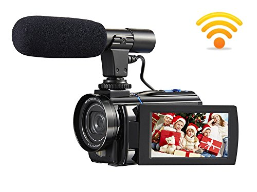 4K Camcorder Video Camera Ultra HD 30.0 MP Digital Camera Camcorders 3.0″ Touch screen Macro Function with External Microphone and Remote Controller