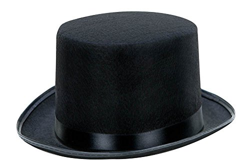 [Kangaroo Black Top Hat] (Snowman Costume Hat)