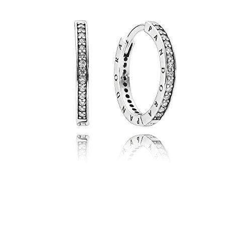 Pandora Women Silver Stud Earrings - 290558CZ