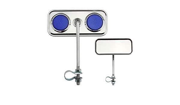 New Rectangle Twisted Mirror  Chrome Clear Reflector Cruiser Lowrider Chopper