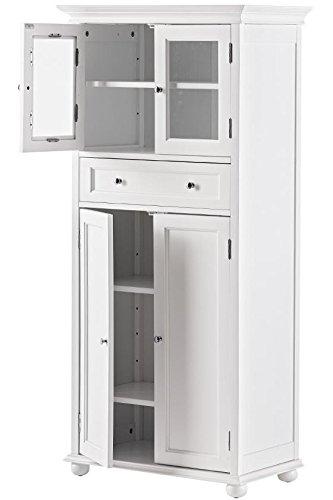 Hampton bay 1 drawer tall bath cabinet 4 door white for Hampton bay cabinet accessories