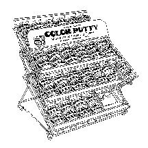 Color Putty 196 Assortment, White, 13'' X 10'' X 20''