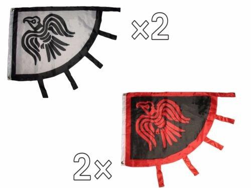 Moon 3x4 Wholesale Combo Viking Raven 2 Black Red & 2 Black