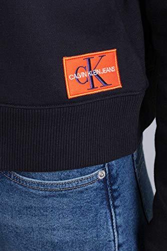 Klein Calvin Negro Sudadera Hueso Mujer Badge Monogram P1Tv6qw