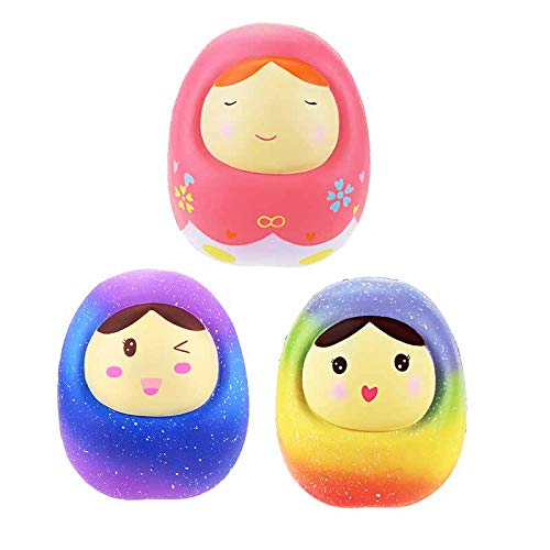 1 lot 6 Pcs/Lot Squishies Toys Colorful Russian