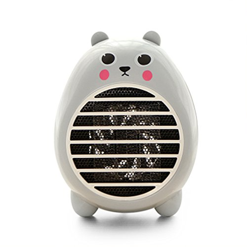 FEC Safety Heater Fan Energy-saving Heater Cute Mini Household Room Office Desktop Electric Fan Heater Air Warmer Grey (Room Heaters And Cooler compare prices)