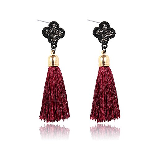 Luck Wang Ms. Fashion Bohemian Style Alloy Diamond Tassel - Online Shop Oroton