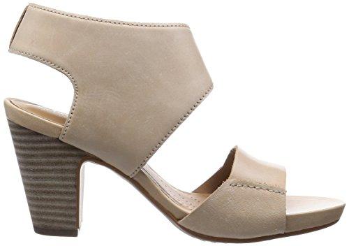 Femme Beige Sandales Nu Okena Clarks Mod pieds YxRqBEXwn