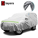 KAKIT Waterproof Jeep Cover, 5 Layers 2 Door All Weather UV Protection Car Cover for Jeep Wrangler, with Driver Door Zipper