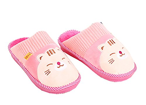 Pink Best Soft Face Cotton House Women's Blubi Slippers Cat Smiley Shoes 07STvq