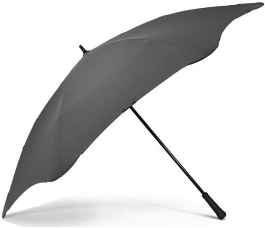 Corail Anti Vent Anti Retournement Blunt Parapluie TEMP/ÊTE Long 6 Baleines Incassables Fibre de Verre Large Protection de 137 CM de diam/ètre Ultra R/ésistant