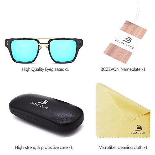 y Retro Gafas sol Gafas BOZEVON 05 de de Hombre UV400 para Mujers Estilo Verano Unisex Extragrandes zq11SYc