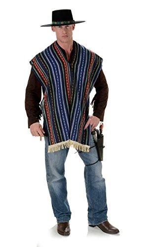 [Men's Serape Costume - Bandito] (Dia De Los Muertos Mariachi Costume)