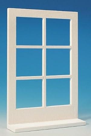 Fensterattrappe, groß, weiß für das Puppenhaus: Amazon.de: Spielzeug
