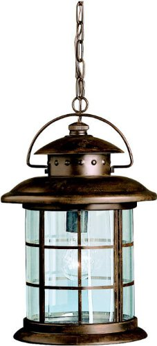 Kichler 9870RST Rustic Outdoor Pendant 1-Light, Rustic