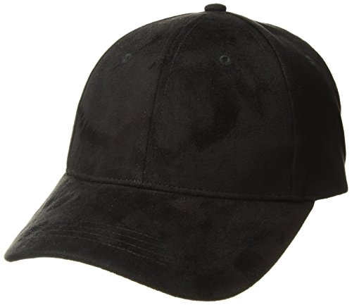 (Michael Stars Women's Don't be Suede Baseball Cap, black one size)