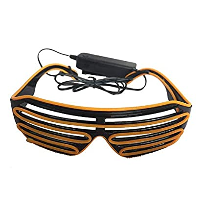197986d0d2 Image Unavailable. Image not available for. Color  Atlaxa Light Up Shutter LED  Neon Rave Glasses Party Eyeglass El Wire DJ Flashing Sunglasses Costumes