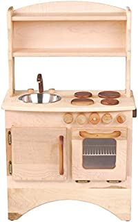 product image for Camden Rose Simple Hearth (Child's Maple Wood Play Kitchen with Hutch)