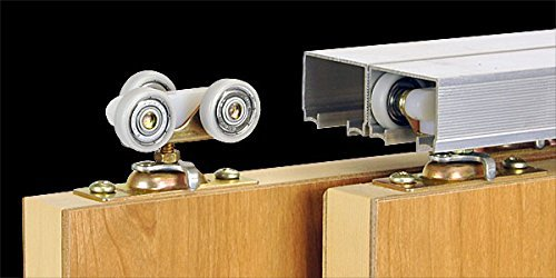 100SD Sliding Bypass Door Hardware (96 In. Length 2 Door System) by Johnson Hardware (Image #8)
