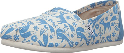 - TOMS Women's Seasonal Classics Blue/Birch Foxes Loafer 5 B (M)