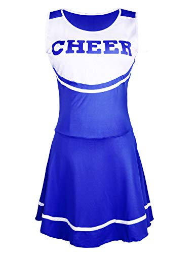 (Hamour Womens' Cheerleader Costume Mini Skirt Fancy Dress Uniform, Medium)