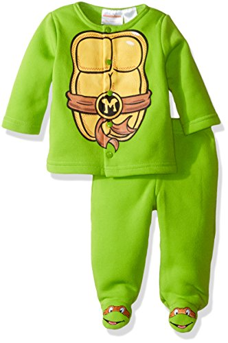 Nickelodeon Baby Boys' Teenage Mutant Ninja Turtle Fleece Jacket and Pant Set, Green, 0-3 Months -