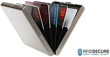 Mens RFID Blocking Credit Card Wallet Holder Stainless Steel Safey ID Protection
