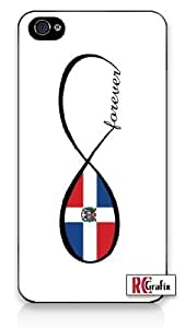 Infinity Forever Dominican Republic National Flag iPhone 5C Quality Hard Snap On Case for iPhone 5C - AT&T Sprint Verizon - White Case