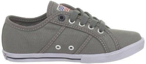 US Polo Assn - Zapatillas de deporte de tela para niños Gris (Gris (Grey))