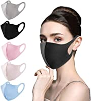 5PC Disposable Face Protection for Adults Reusable Washable Polyester Face Bandanas Breathable Dustproof Comfortable...