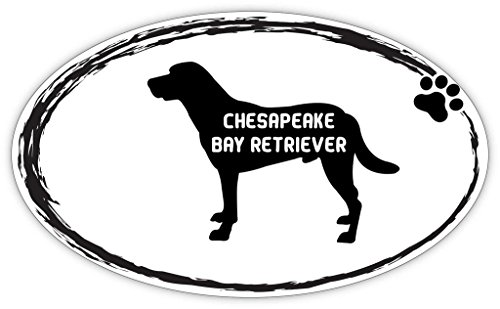 Chesapeake Bay Retriever Sticker - Makoroni - CHESAPEAKE BAY RETRIEVER Oval Shape Dogs Pets Sticker - Car Laptop Wall Sticker Decal - 3