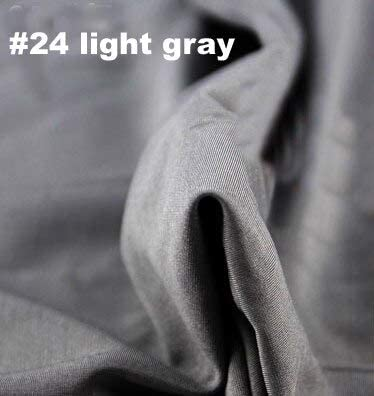 Light Weight Lycra// Spandex 4 Way Stretch Fabric Material Black White