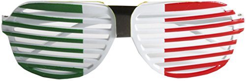 Forum Novelties Adults Italian Republic Flag Shutter Shades Slat Sunglasses Costume - Italian Glasses