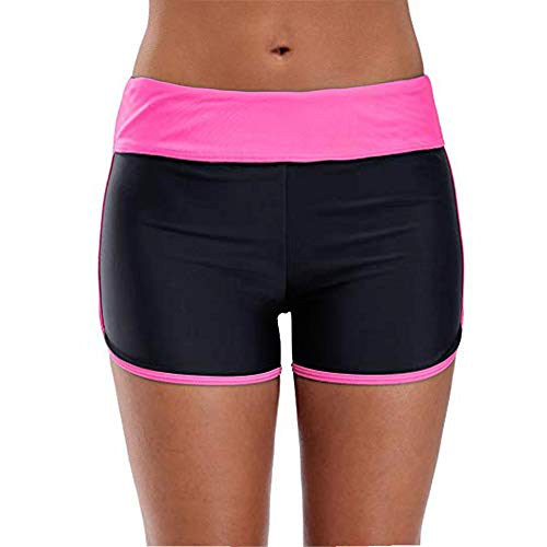Women's Boy Shorts High Waist Swim Shorts Boardshorts Beach Bikini Tankini Swimwear Boy Leg Bottoms ... Pink
