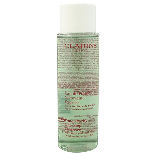 Cleansers One Step Facial Cleanser (Clarins Water Purify One Step Cleanser with Mint Essential Water for Combination or Oily Skin, 6.80 Ounce)