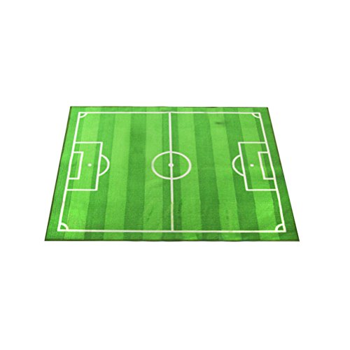 Small Soccer Ball Rug - Super Soft Square Area Rugs Green for Bedroom Kids Rooms Living Room Soccer Field Designed
