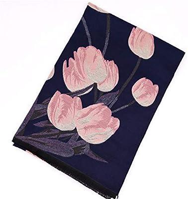 Bufanda De Las Señoras Estampado de flores Bufanda Estuche de ...