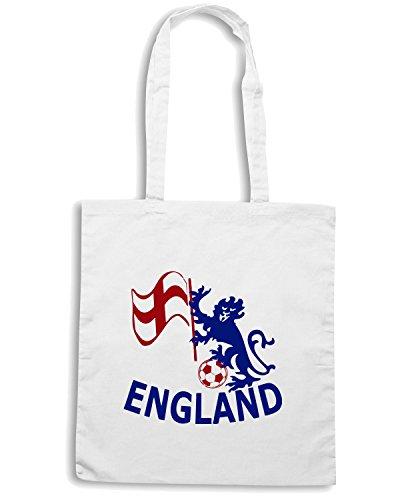 T-Shirtshock - Bolsa para la compra WC0080 ENGLAND INGHILTERRA Blanco