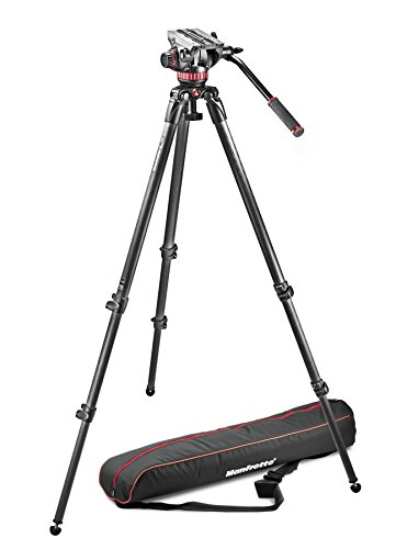 Manfrotto 502 Video Head with 535 Carbon Fiber Tripod and Padded Bag MVK502C by Manfrotto