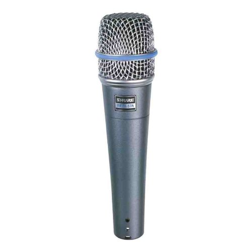 - Shure BETA 57A Supercardioid Dynamic Microhone with High Output Neodymium Element for Vocal/Instrument Applications
