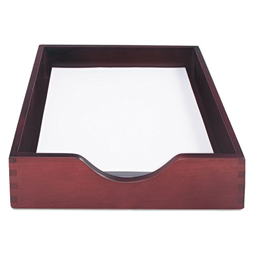 (Carver Hardwood Stackable Desk Tray, Letter Size, 13.5 x 11 x 2.75 Inches, Mahogany Finish)