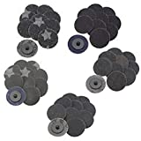 thaisan7 ,50Pcs 2'' inch 24/36/60/80/120 Grits Sanding Abrasive Disc Roll Lock Discs Sanding Sheets & Belts.Lively Home