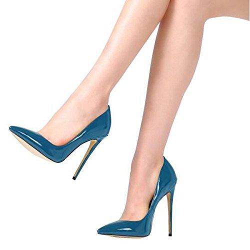 Pumps Stiletto Damen High Schwarz Blau Büro Heels Sexy Jushee Klassische Kleid wzHTZqw