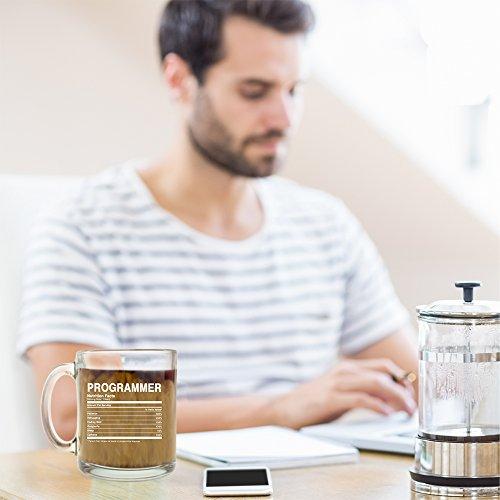 Programmer Nutrition Facts - Glass Coffee Mug