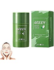 (2021 upgrade)Green Tea/Eggplant Purifying Clay Stick Mask,Oil Control,Face Moisturizing Nourishing,Blackhead Remover,Deep Cleansing Pore,Improves Skin Care for All Skin Types Men Women.(82g)