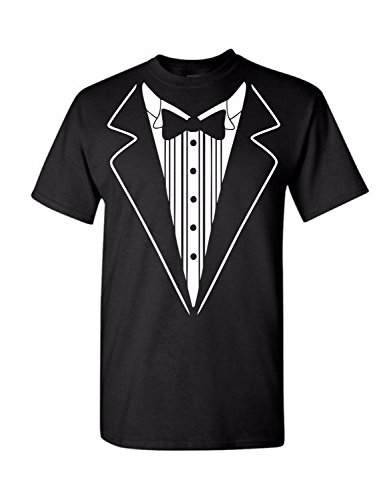 Uink Tuxedo Men's T-shirt Comfort Fit, Black M